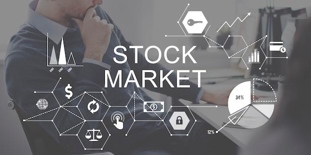 Finances boursières concept de questions financières