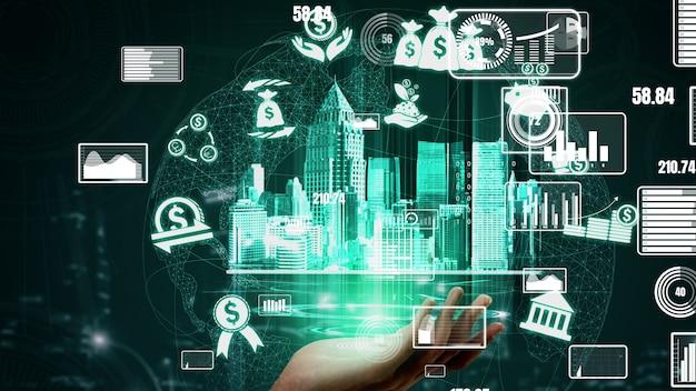 Finances et technologie de transaction monétaire conceptuelle