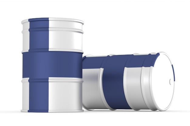 Finn barils de drapeau de style pétrolier isolés