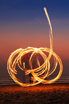 Fireshow à la plage