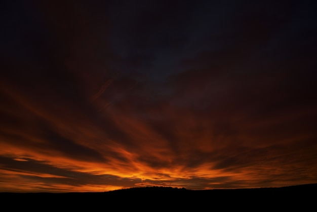 First sunrise light