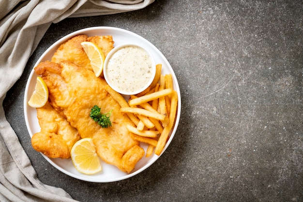 Fish and chips avec frites