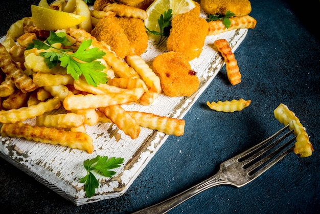 Fish and chips avec sauce tartare