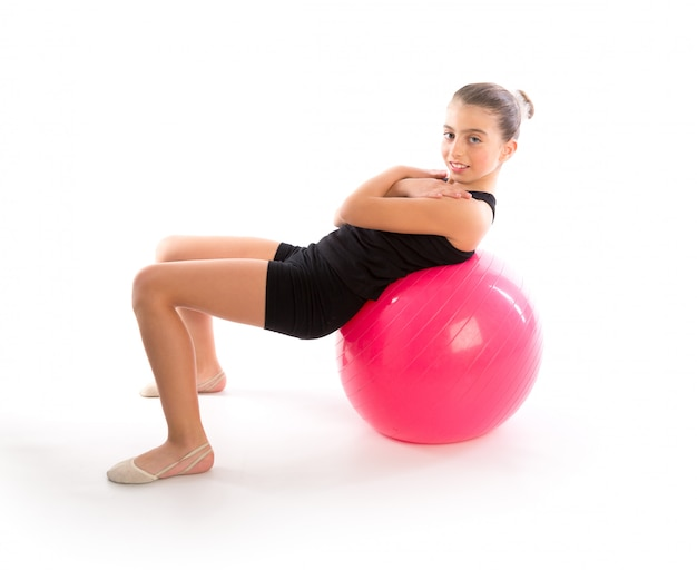Fitness fitball swiss ball kid fille exercice d'entraînement