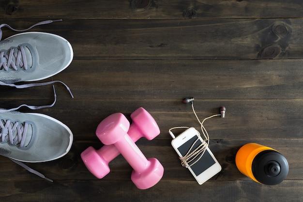 Fitness, modes de vie sains et actifs concept