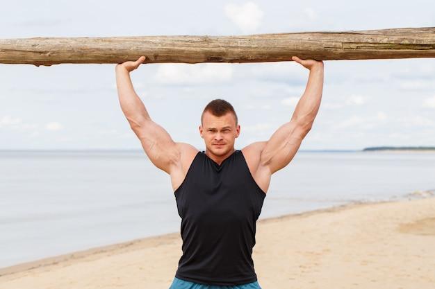 Fitness sur la plage