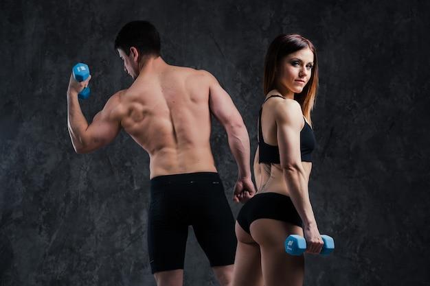 Fitness sportif couple sain homme et femme