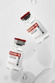 Flacons en verre d'injection de vaccin covid-19