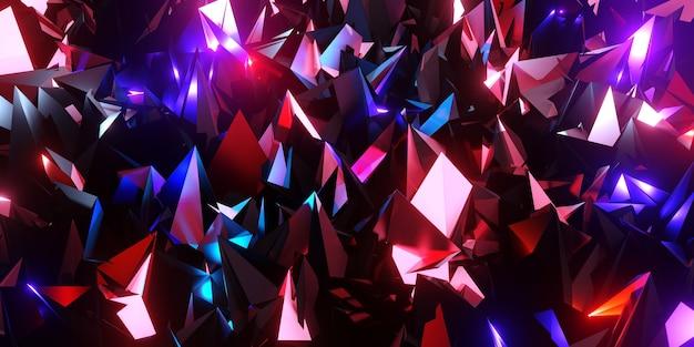 Flak fond verre cassé technologie moderne abstrait futuriste 3d illustration