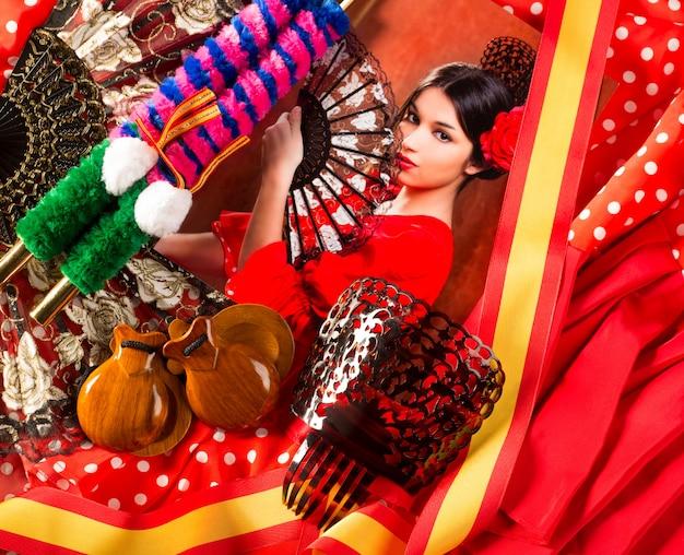 Flamenco avec torero et typique de l'espagne espana