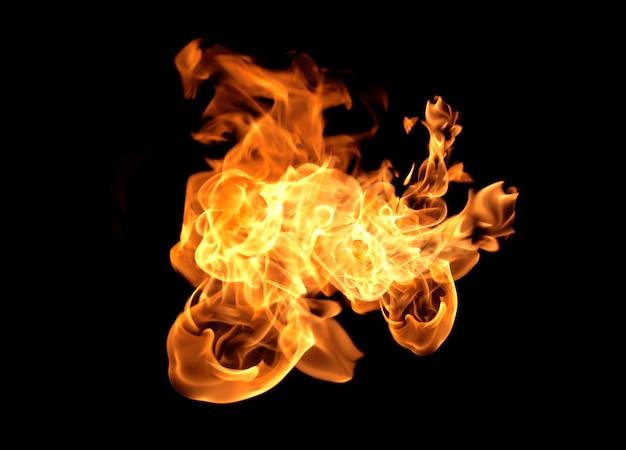 Flamme chaleur feu abstrait fond noir