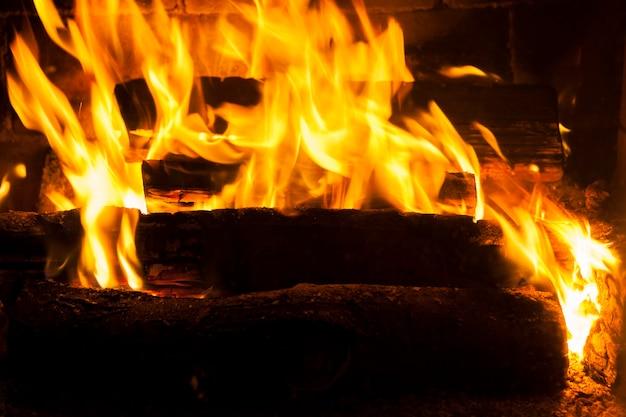 La flamme du feu