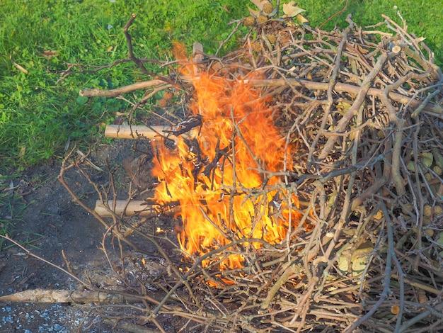 Flamme de feu brûlant