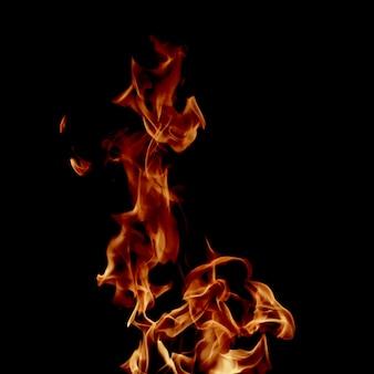 Flamme de feu de gros plan