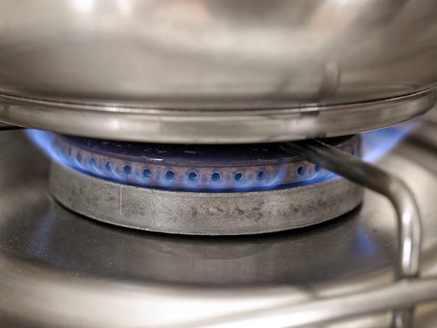 Flamme de la plaque de cuisson