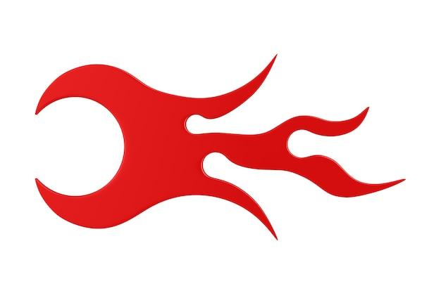 Flamme de symbole sur fond blanc. illustration 3d isolée