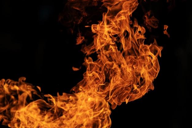 Flammes d'incendie de l'explosion de gaz