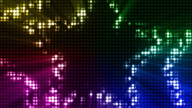 Des flashs led colorés clignotent