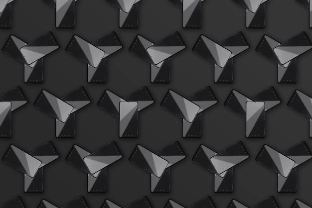 Flatlay de téléphones mobiles noirs-black friday, concept cyber monday