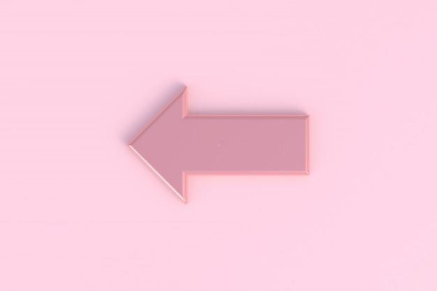 Flèche abstrait minimal fond rose