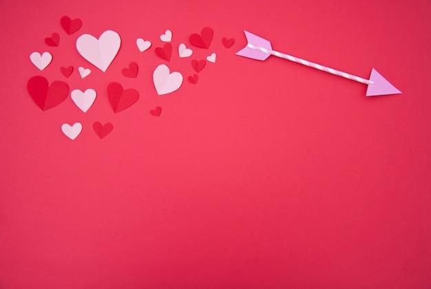 Flèche de cupidon - concept saint-valentin