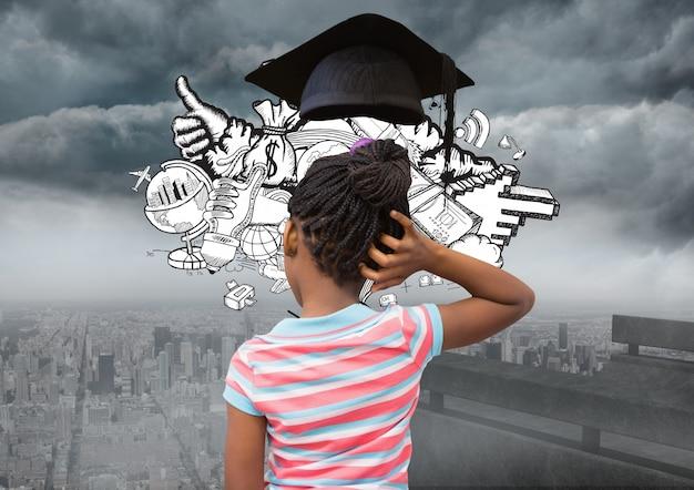 Flèche diplôme éducation écolier ennuyé
