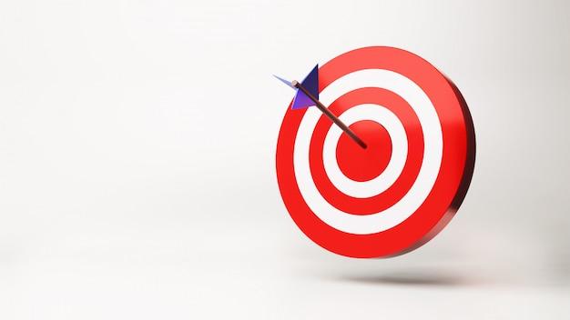 La flèche est exactement sur la cible, rendu 3d