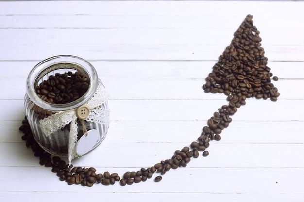 Flèche de grain de café