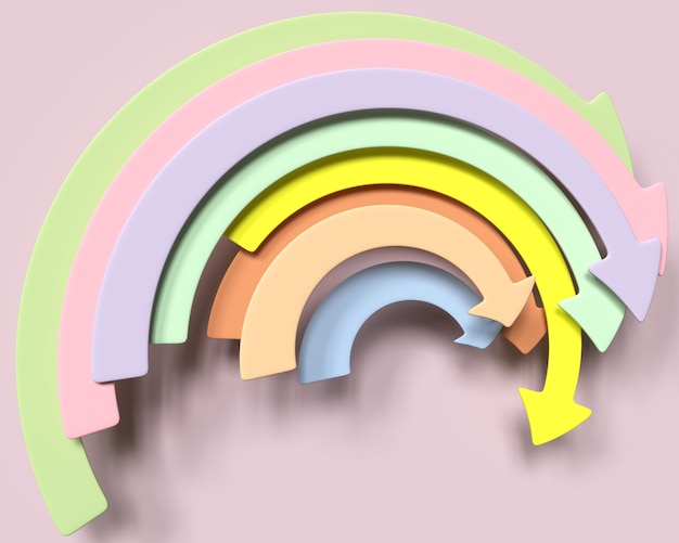 Flèche infographique illustration 3d
