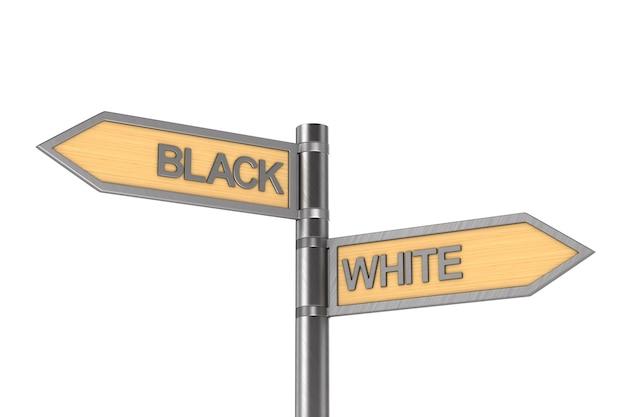 Flèche noire et blanche.