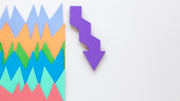 Flèche représentative avec copie-espace