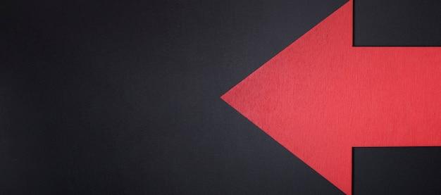 Flèche rouge avec copie-espace