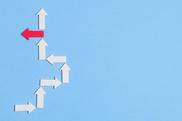 La flèche unique ne rentre pas dans la ligne blanche