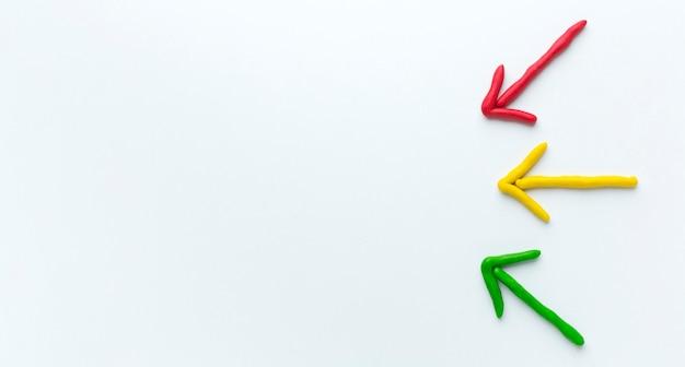 Flèches colorées avec espace copie