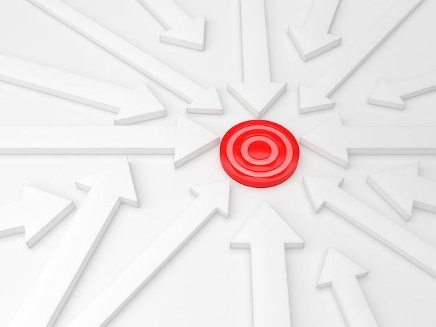 Flèches fond direction objectif traget modèle d'affaires pastel idée