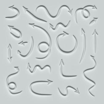 Flèches isolées sur fond blanc illustration 3d