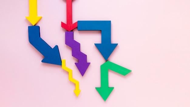 Flèches représentant l'économie
