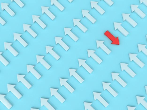 Flèches rouges fond direction objectif traget modèle d'affaires pastel idée