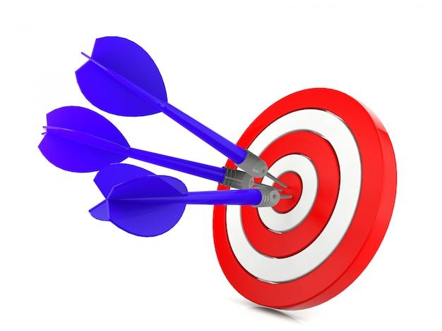 Fléchette frapper un objectif, concept de réussite