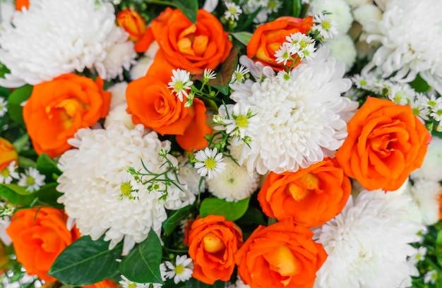 Fleur de cérémonie décoration orange décoration