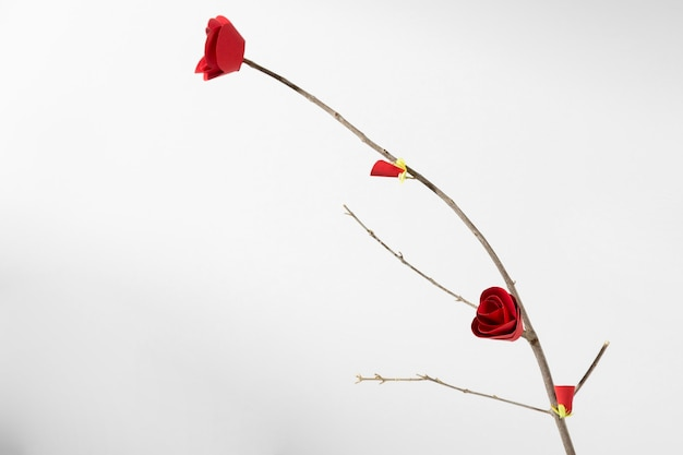 Fleur chinoise minimaliste nouvel an 2021