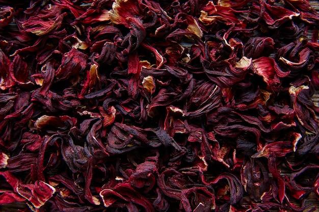 Fleur de la jamaïque pour le thé glacé à base de plantes d'hibiscus