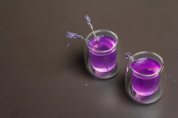 Fleur de lavande boisson limonade tonique d'été sans alcool