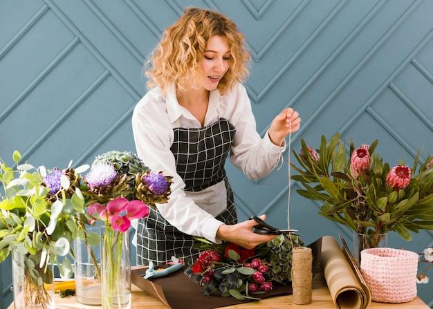 Fleuriste coup de fil moyen pour bouquet
