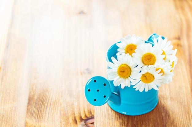 Fleurs en arrosoir