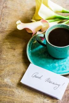 Fleurs de café et calla