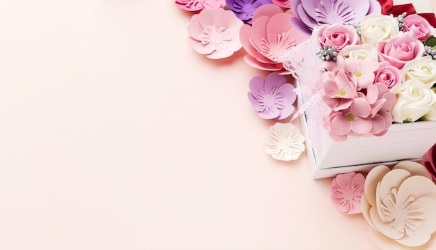 Fleurs copie espace pour la fête des mères