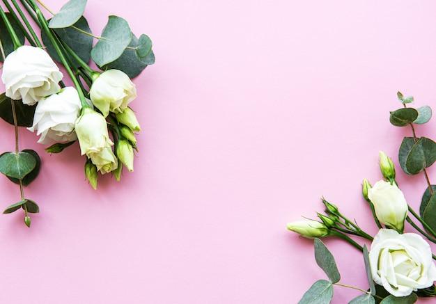Fleurs eustoma blanches