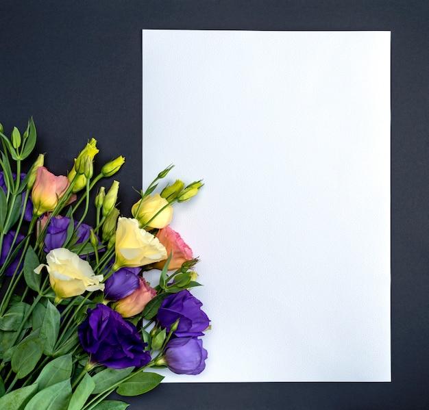 Fleurs fraîches en fleurs eustoma lisianthus
