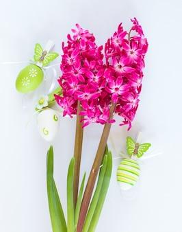 Fleurs de jacinthe rose